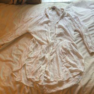 Aerie brand pleated linen shirt